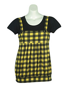 Yellow Plaid Jumper by One Step Up Plus