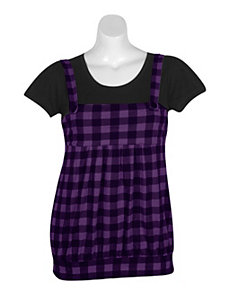 Purple Plaid Jumper by One Step Up Plus