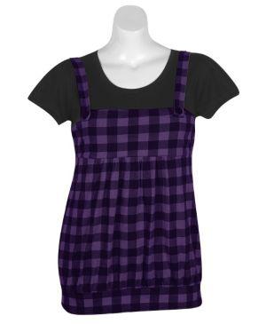 Purple Plaid Jumper