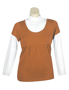 Rust Rush Top by One Step Up Plus