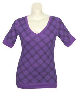 Purple Proper Plaid Top