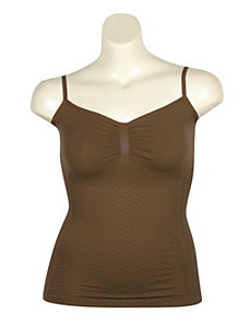 Brown Seamless Tank Top by One Step Up Plus