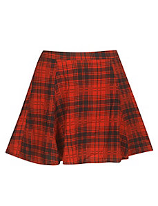Plaid Skater Skirt by One Plus Step Up