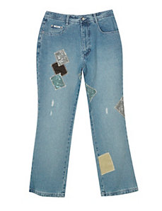 Patch Flare Jean by Revolt Jeans