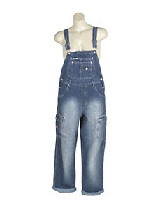 Faded Denim Overalls by Revolt Jeans