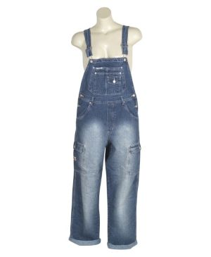 Faded Denim Overalls