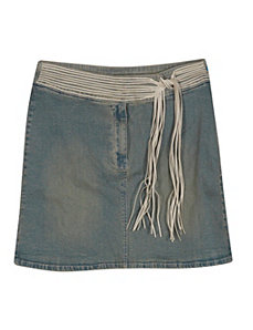 Funky Belted Denim Skirt by Revolt Jeans