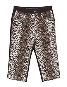 Animal Print Capri by Revolt Jeans