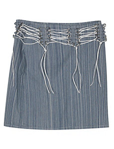 Blue Stripe Denim Skirt by Revolt Jeans
