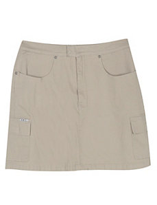 Khaki Short Skirt by Revolt Jeans