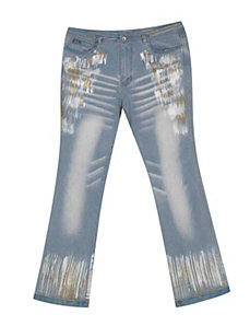 Painted Glitter Jean by Revolt Jeans