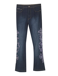 Embroidered Envy Jean by Revolt Jeans