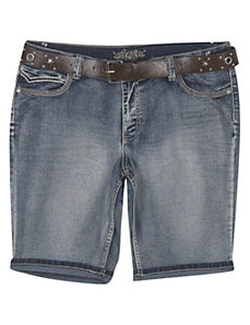 Belted Faded Short by Revolt Jeans
