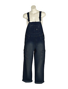 Dark Blue Denim Overalls by Revolt Jeans