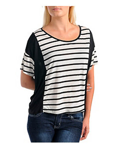 Striped Scoop Neck Top by Janette
