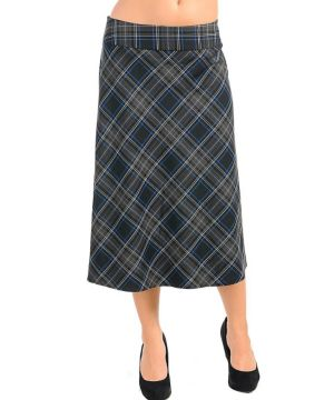 Gray Cross Pattern Skirt
