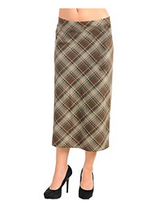 Brown Cross Pattern Skirt by alight