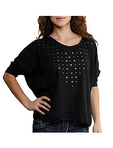 Black Starlit Top by One Step Up Plus