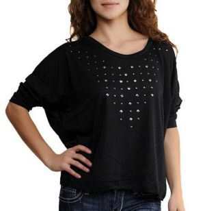 Black Starlit Top