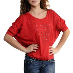 Red Starlit Top