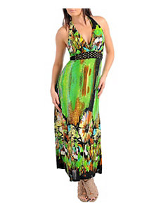 Patterned Green Maxi Dress by alight