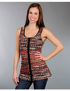 Red Patterned Tank Top by alight