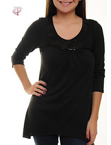 Black So Sequin Top by alight