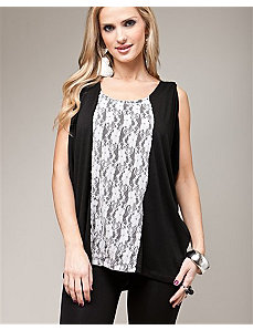 Black Lace Up Top by alight