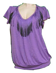 Fringe Accent Top by alight
