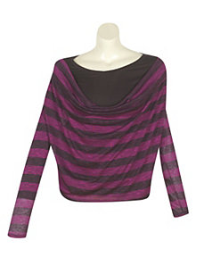 Magenta Stripe Top by alight