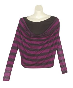 Magenta Stripe Top