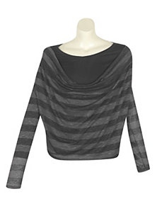 Charcoal Stripe Top by alight
