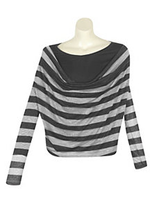 Light Gray Stripe Top by alight
