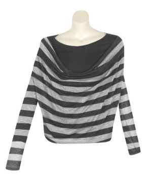 Light Gray Stripe Top