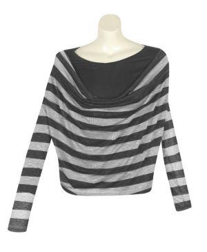 Light Gray Stripe Top
