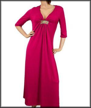 Magenta Back Lace Dress