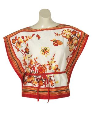 Red Stripe Floral Top