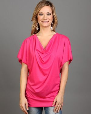 Fushia Draped Neck Top