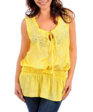 Yellow All Night Top