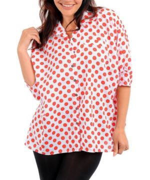 Red Dotted Line Top