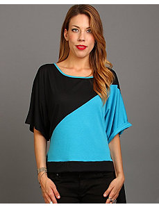 Black Color Block Top by alight