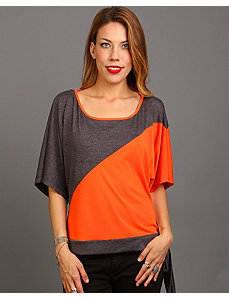 Gray Color Block Top by alight