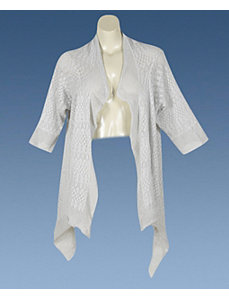 Gray Pointelle Wrap by alight