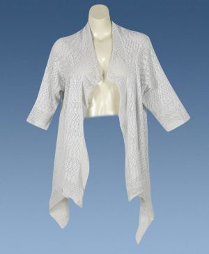 Gray Pointelle Wrap