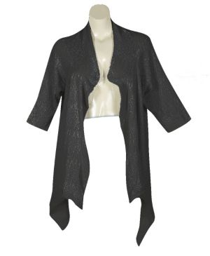 Black Pointelle Wrap