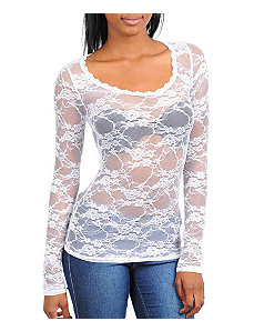 White Lace Top by alight