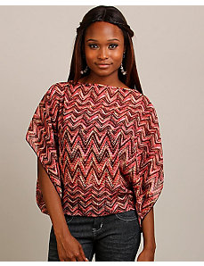 Wine Zig Zag Top by alight