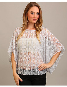 Gray Lace Top by alight