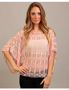 Peach Lace Top by alight