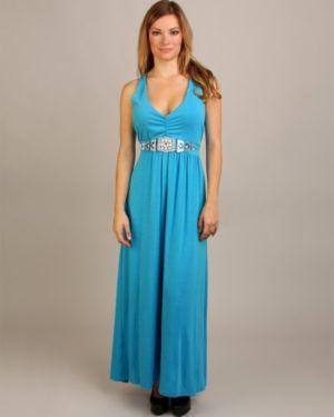Blue Bold Maxi Dress
